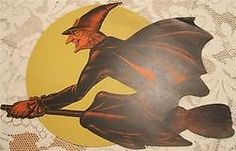 Check out VINTAGE Broomed Witch Yellow Moon Die Cut Cardboard HALLOWEEN Decoration  http://www.ebay.com/itm/VINTAGE-Broomed-Witch-Yellow-Moon-Die-Cut-Cardboard-HALLOWEEN-Decoration-/110187411002?roken=cUgayN via @eBay