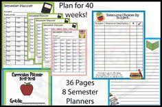 FREE Printable 40 Week/Full Year Curriculum Planner