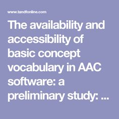 43 Amazing AAC Research Articles images in 2019 | Exploring