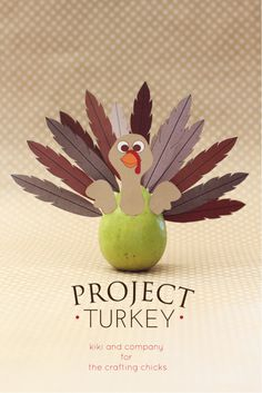 Project Turkey at The Crafting Chicks. - This is perfect for Thanksgiving decorations. Free printable