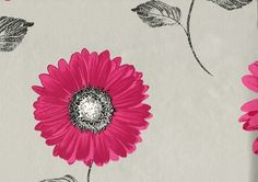 Muriva Daisy Pink and Silver