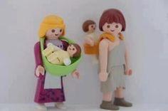 so cute! playmobil babywearing