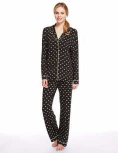 Revere Collar Heart Print Pyjamas - Marks   Spencer f0f5f3ad5