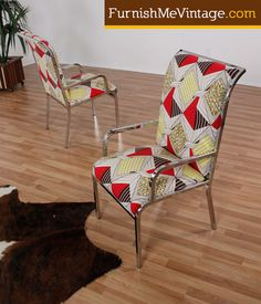 mid century modern chrome chairs