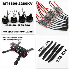 Blackout QAV250 Carbon Fiber Mini 250 FPV Quadcopter Frame Combo,1806 2280KV Motor,12A Simonk ESC,5030 Propeller(Unassembled)-in Parts & Accessories from Toys & Hobbies on Aliexpress.com | Alibaba Group
