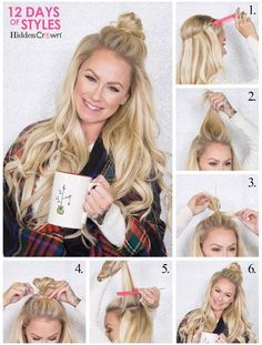 12 Days of Hidden Crown Holiday Hairstyles: Day 12 - Hidden Crown Hair Extensions