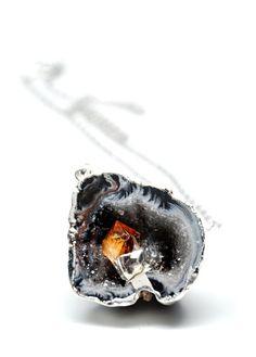 Geode & Citrine Necklace