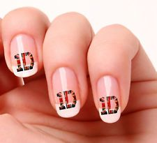 20 Nail Art Decals Transfers Stickers #716 - One Direction 1D Union Jack