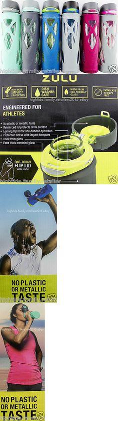 Hydration 158950: Zulu Glass Water Bottles Performance Sports Fitness Bpa-Free Lock Flip-Lid 20 Oz -> BUY IT NOW ONLY: $32.41 on eBay!
