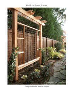 Beautiful side yard with privacy. Trellis and Fence