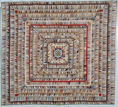 Highly Pieced Center Medallion Quilt For Sale at Batik Quilts, Old Quilts, Antique Quilts, Mini Quilts, Vintage Quilts, Victorian Quilts, Scrappy Quilts, Vintage Fabrics, History Of Quilting