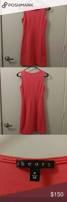 Theory Dress Sleeveless, A-line, coral dress by Theory Theory Dresses Mini