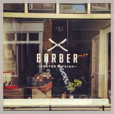 Barber shop in Jordaan, Amsterdam.