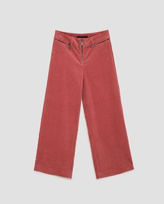 Image 8 of CORDUROY WIDE-LEG TROUSERS from Zara