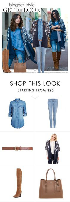 """""""Stitches"""" by ana-caroline-maia ❤ liked on Polyvore featuring ONLY, 7 For All Mankind, Maison Boinet, Pour La Victoire and Prada"""