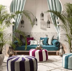 How to create a Moroccan style paradise at home and outdoorsYou can find Moroccan interiors and more on our website.How to create a Moroccan style paradise at home and outdoors Moroccan Decor Living Room, Moroccan Room, Moroccan Home Decor, Moroccan Design, Moroccan Style, Living Room Decor, Moroccan Bathroom, Moroccan Lanterns, Moroccan Garden