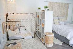Amazing Montessori Bedroom Design For Happy Kids bedroom Baby Bedroom, Baby Room Decor, Master Bedroom, Bedroom For Girls Kids, Montessori Bedroom, Pastel Room, Parents Room, Shared Bedrooms, Small Bedrooms