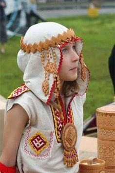 (Komi people) Komi beautiful Girl. Russia.