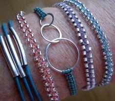 Wrist Full braided and macrame bracelets