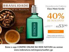 Até o dia 11/09/16, #perfume masculino Natura Ekos Mate Verde com 40% de desconto, não perca essa chance! A própria Natura entrega na sua casa em qualquer lugar do Brasil. Pague com boleto bancário ou divida em até 6x s/juros no cartão (parcela com valor mínimo de R$ 30,00) #amazonia #mateverde #perfumemasculino #barba #homem #vida #charme #estilo