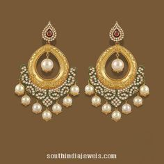 Gold Chandbali Earrings from TBZ