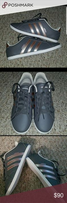 Adidas sneakers Gray and rose gold. Nwot. No box. adidas Shoes Sneakers