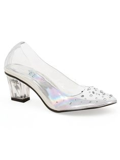 Girl s Clear Glass Princess Slipper. High Heels For KidsKid ShoesCute ... 7d972a3c4df5