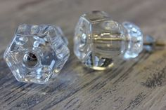 Clear Hex Glass Knobs available at Interiors To Inspire in Calgary, Alberta Canada. Click on the image above to shop our online store.