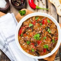 Paprika Mushroom Beef Stew.