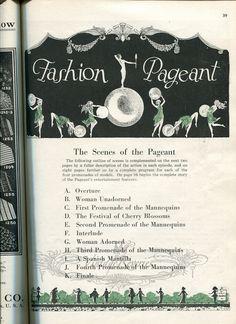 #fashionshow #stl #stlouis #1920s #artdeco #history #b2b #runway #fashion #fashionhistory #tradeshow #flapper #illustration  1924 St. Louis Fashion Pageant Programme