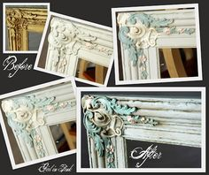 A mix of Paris Grey and Old White covered the entire frame in 2 coats.