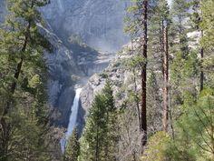 One of the waterfalls in Yosemite
