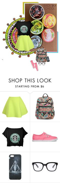 """""""Back To School!!"""" by black-rose-oara ❤ liked on Polyvore featuring UNIF, Vera Bradley, Vans, Forever 21 and BackToSchool"""