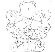 Ursinhos para pintura country | Desenhos e Riscos - Desenhos para colorir