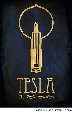 """Tesla scientist print.  """"The papers, which thirty years ago conferred upon me the honor of American citizenship, are always kept in a safe, while my orders, diplomas, degrees, gold medals and other distinctions are packed away in old trunks."""" - Nikola Tesla"""