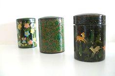 Vintage Handmade Paper Mache Lacquer Boxes by 4EnvisioningVintage, $42.00