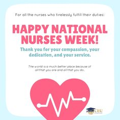 From all of us to all of you, thank you for all that you do! #NursesWeek #CEUCentral #NurseLife #Nursing #WeLoveYou www.ceucentral.com