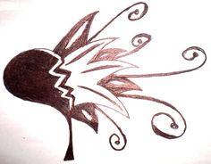 Broken Heart Tattoo by Nostovalia on DeviantArt Broken Heart Tattoo, Tattoo You, Tribal Tattoos, Tatting, Moose Art, Tattoo Designs, Deviantart, Ink, Black