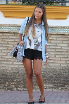 Looks con shorts negro Zara - Trendtation