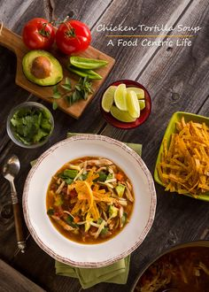 A warming, classic soup with vibrant Mexican flavors, my recipes uses leftover roast chicken and frozen homemade chicken stock for quick preparation. Chicken Avocado Soup, Chicken Tortilla Soup, Healthy Chicken, Gazpacho, Healthy Mexican Recipes, Homemade Chicken Stock, Stuffed Whole Chicken, Soup And Salad, Soups And Stews