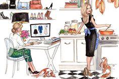 As ilustrações de moda da Inslee | Just Lia
