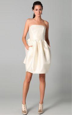 Ivory Sheath Knee-length Strapless Dress [Dresses 10387] - $144.00 :