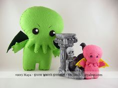 Cranky Cthulhu Felt Plush by SWStitchery on Etsy (Pink Lemonade Cthulhu is sold separate).