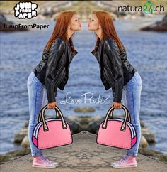 JumpFromPaper - What does pink mean these day  - anyway, i give myself  permission to be me !  studhalter.org  creativa  jumpfrompaper  handtaschen  ... 094b6cd3ab