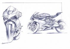 Early Ducati Panigale sketches