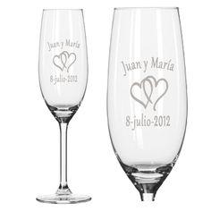 Regalos personalizados Vinos Personalizados: Copas de cava para parejas