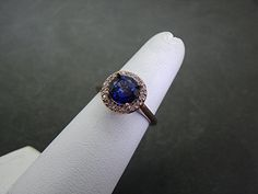 Sapphire and Rose Gold - pretty!