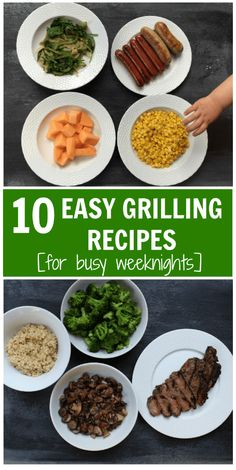 Welcome grilling season with 10 easy grilling recipes that you can have on your table in under 30 minutes. Perfect for those busy weeknights! Healthy Beef Recipes, Healthy Meal Prep, Grilling Recipes, Healthy Lunches, Healthy Dinners, Healthy Foods, Yummy Recipes, Easy Weeknight Dinners, Quick Easy Meals