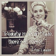 Estee Lauder, founder of the eponymous cosmetic company