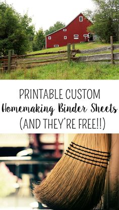 Custom Homemaking Binder Printable to help you get more organized while managing your home or farm!